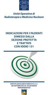 Indicazioni per i pazienti dimessi dalla sezione protetta e trattati con iodio 131