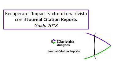 Recuperare l'IF di una rivista con il Journal Citation Reports